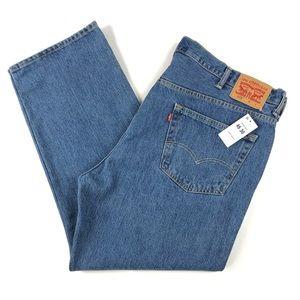 Levi's 505 Mens 46x30 Regular Fit Straight Jeans